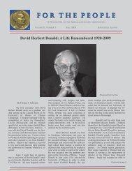 Autumn 2009 - Abraham Lincoln Association