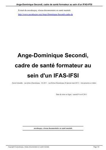 Ange-Dominique Secondi, cadre de santé formateur ... - Ascodocpsy