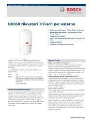 OD850 rilevatori TriTech per esterno - Bosch Security Systems