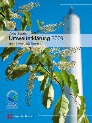 Umwelterklärung 2009 - Ums Uni Bremen - Universität Bremen