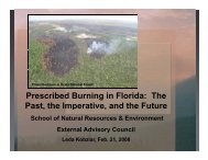 Burning in Florida - College of Natural Resources and Environment