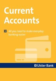 [PDF] Current Accounts & Everyday Banking - Ulster Bank