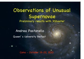 Observations of Unusual Supernovae