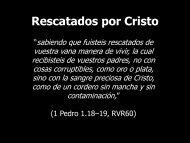 Rescatados por Cristo - Iglesia Biblica Bautista de Aguadilla, Puerto ...