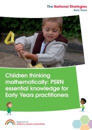 Children thinking mathematically: PSRN essential knowledge for ...