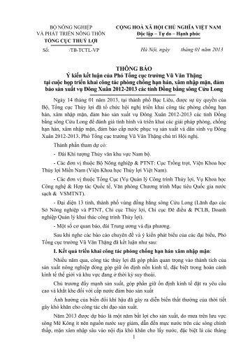 Thong bao ket luan chong han DBSCL (bac lieu 30.1.13)