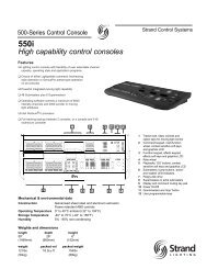 550i Console with 1500/500 channels - Grand Stage Company