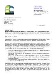Offener Brief an NRW-Ministerpräsidentin Hannelore Kraft