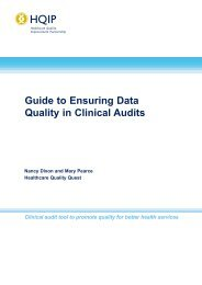 Guide to Ensuring Data Quality in Clinical Audits - HQIP