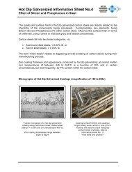 Hot Dip Galvanized Information Sheet No.4 - hdgasa