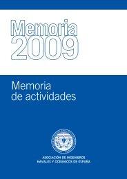 Memoria Actividades AINE 09 - Colegio Oficial de Ingenieros Navales