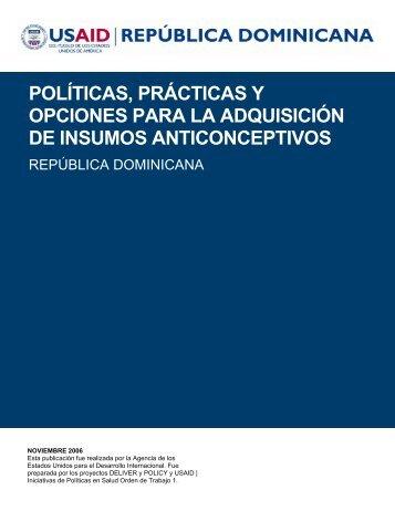 políticas, prácticas y opciones para la adquisición de insumos ...