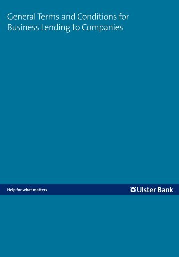 Business Lending to Companies - Ulster Bank