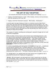 THE ART OF SELF DECEPTION - Rhm-Net.org