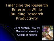 Financing the Research Enterprise While Building Research ... - AACN