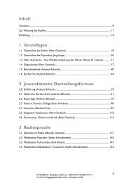 1 Grundlagen 2 Journalistische Darstellungsformen 3 Radiosprache