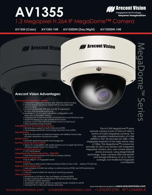 ARECONT VISION AV3155 IP CAMERA DRIVERS FOR WINDOWS XP