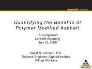 Quantifying the Benefits of Polymer Modified Asphalt - Petersen ...