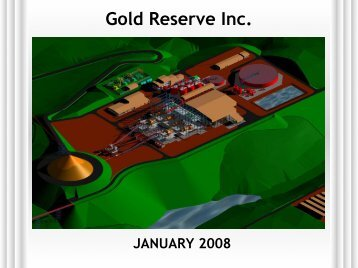 January Presentation - Gold Reserve Inc.