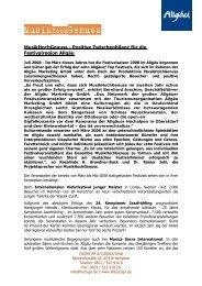 MusikHochGenuss - FUCHS PR & CONSULTING in Kempten im ...