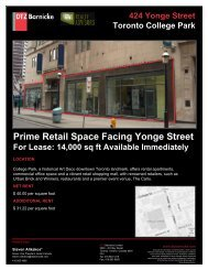 Prime Retail Space Facing Yonge Street - DTZ