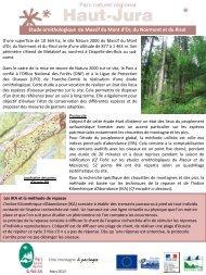 Etude ornithologique du Massif du Mont d-Or, Noirmont et Risol