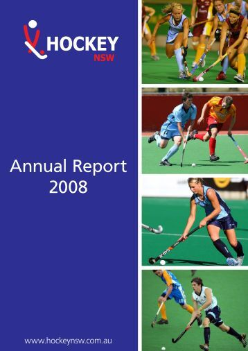 Annual Report 2008 - Hockey New South Wales