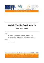 1. digitální řízení spínaných zdrojů - Centrum pro rozvoj výzkumu ...