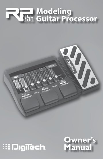 Modeling Guitar Processor Owner's Manual - zZounds.com