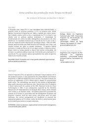 Uma análise da produção mais limpa no Brasil - RBCIAMB - Revista ...