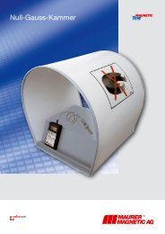 Null-Gauss-Kammer - Maurer Magnetic AG - Prospekt