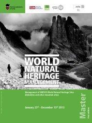 Master WNHM-World Natural Heritage Management - TSM