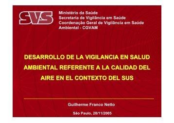 Desarrollo de la vigilancia en salud ambiental referente a ... - BVSDE