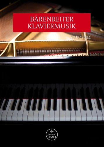 BÄRENREITER KLAVIERMUSIK - Bärenreiter Verlag