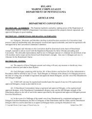 bylaws marine corps league department of ... - Pamcleague.org