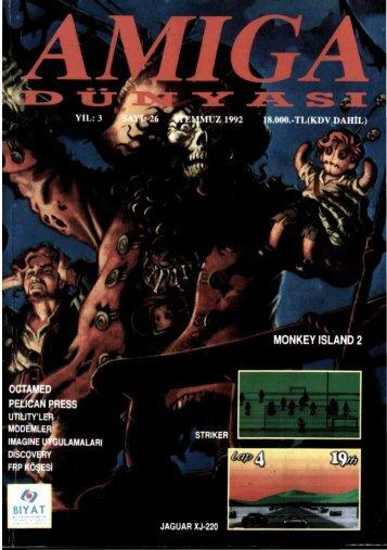 Amiga Dunyasi - Sayi 26 (Temmuz 1992).pdf - Retro Dergi