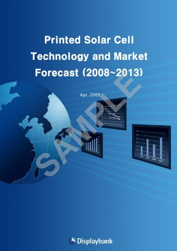 Printed Solar Cell Technology And Market Forecast ... - Displaybank