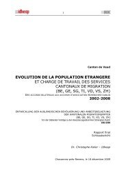 EVOLUTION DE LA POPULATION ETRANGERE ET ... - Badac