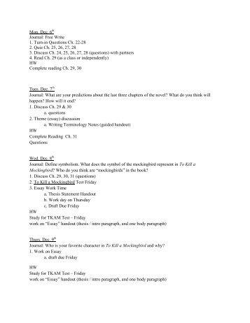 Free Write 1. Turn-in Questions Ch. 22-28 2. Quiz Ch. 25, 26, 27, 28 ...