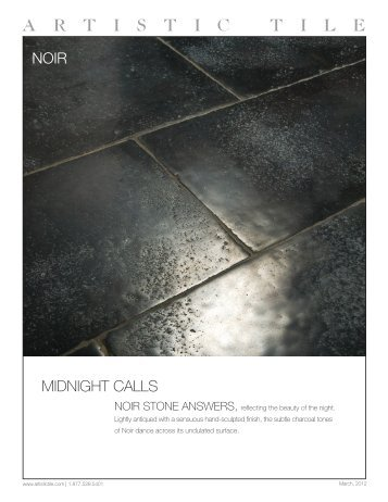 NOIR MIDNIGHT CALLS - Artistic Tile