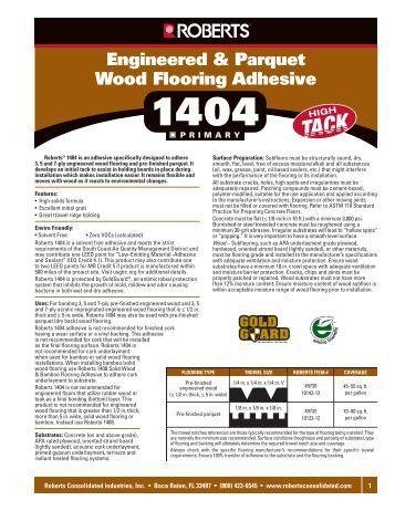 Roberts Vinyl Adhesive 2310 Directions Amp Information