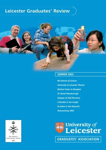 Graduates' Review 2003 - University of Leicester