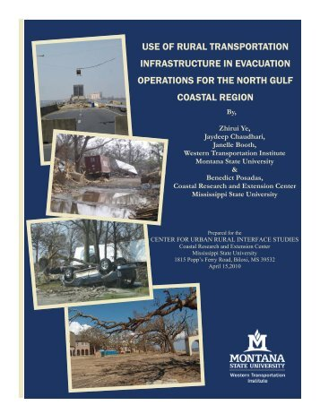 use of rural transportation infrastructure in Evacuation Operations