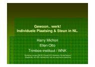 Gewoon.. werk! Individuele Plaatsing & Steun in NL. Harry ... - SBCM