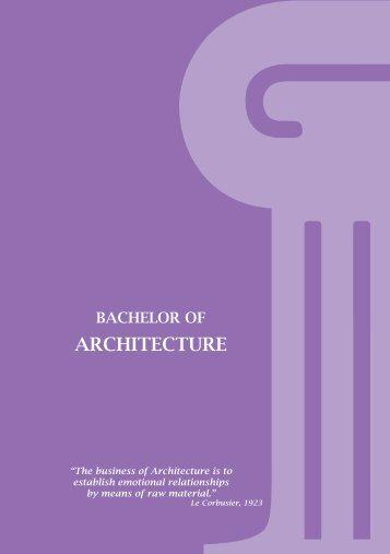 Architecture Program Leaflet - American University in Dubai