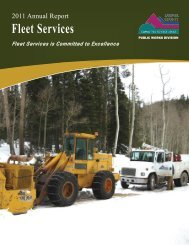 Fleet Services 2011 Annual Report - Larimer County