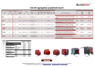 Cennik agregatów prądotwórczych - Elkar
