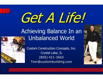 Achieving Balance In an Unbalanced World - International Builders ...