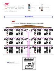 Patienten-Rufsystem clino opt 99 - ESAG