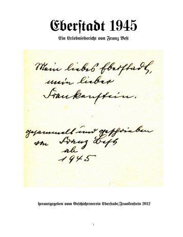 Eberstadt 1945 - Geschichtsverein Eberstadt - Frankenstein